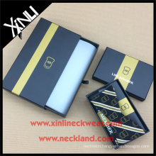 Silk Tie Box Set with Self Tie Bow Tie in Custom Necktie Packaging Box